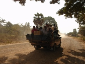 Cambodian Locals on a Truck