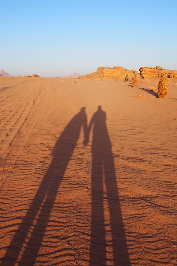 Holding Hands in Wadi Rum, Jordan
