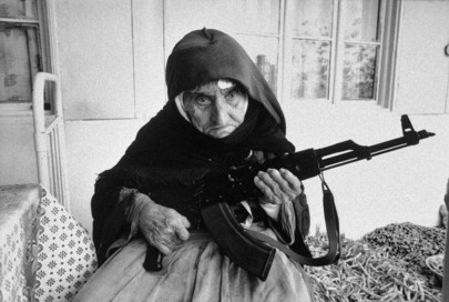 Old Armenian Women with Gun