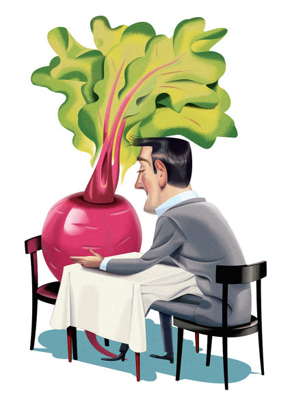 Man Dining with Radish
