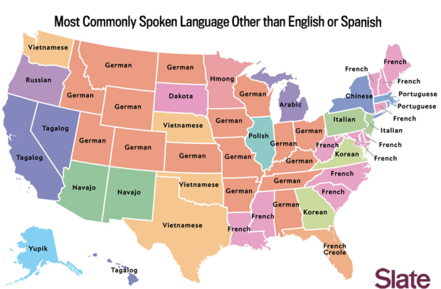 Most Commonly Spoken Language Other Than English & Spanish